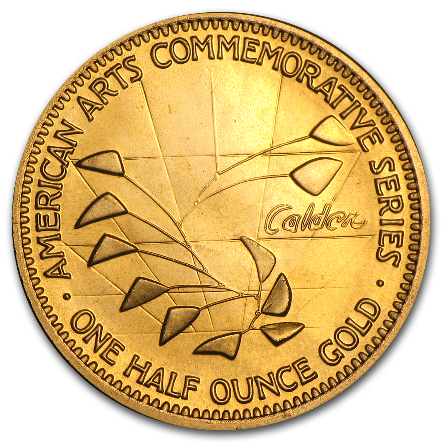 U.S. Mint 1/2 oz Gold Commemorative Arts Medal Alexander Calder
