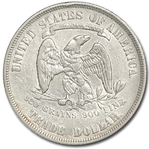1877 Trade Dollar - Extra Fine-45 Details - Cleaned