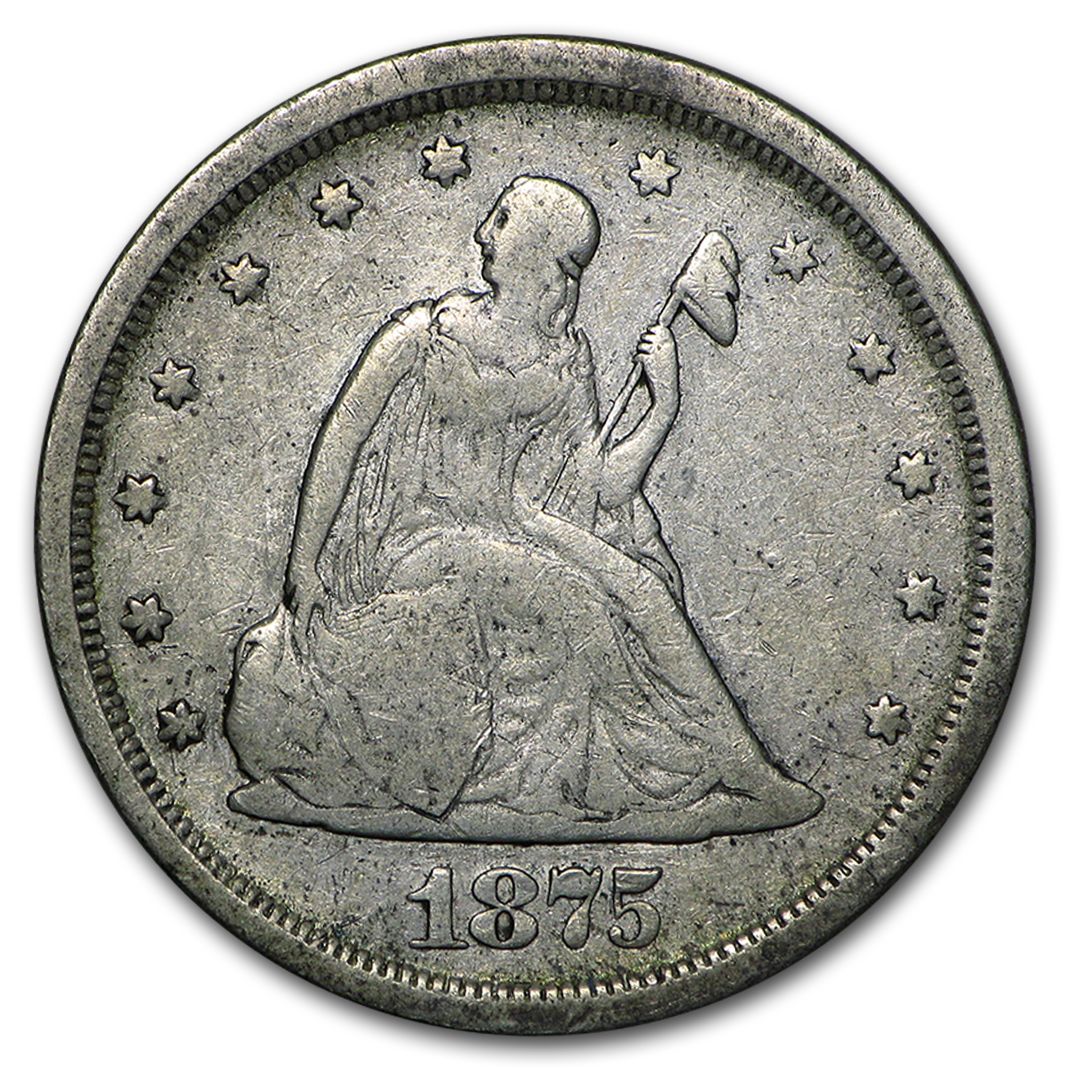 1875-S Twenty Cent Piece Fine