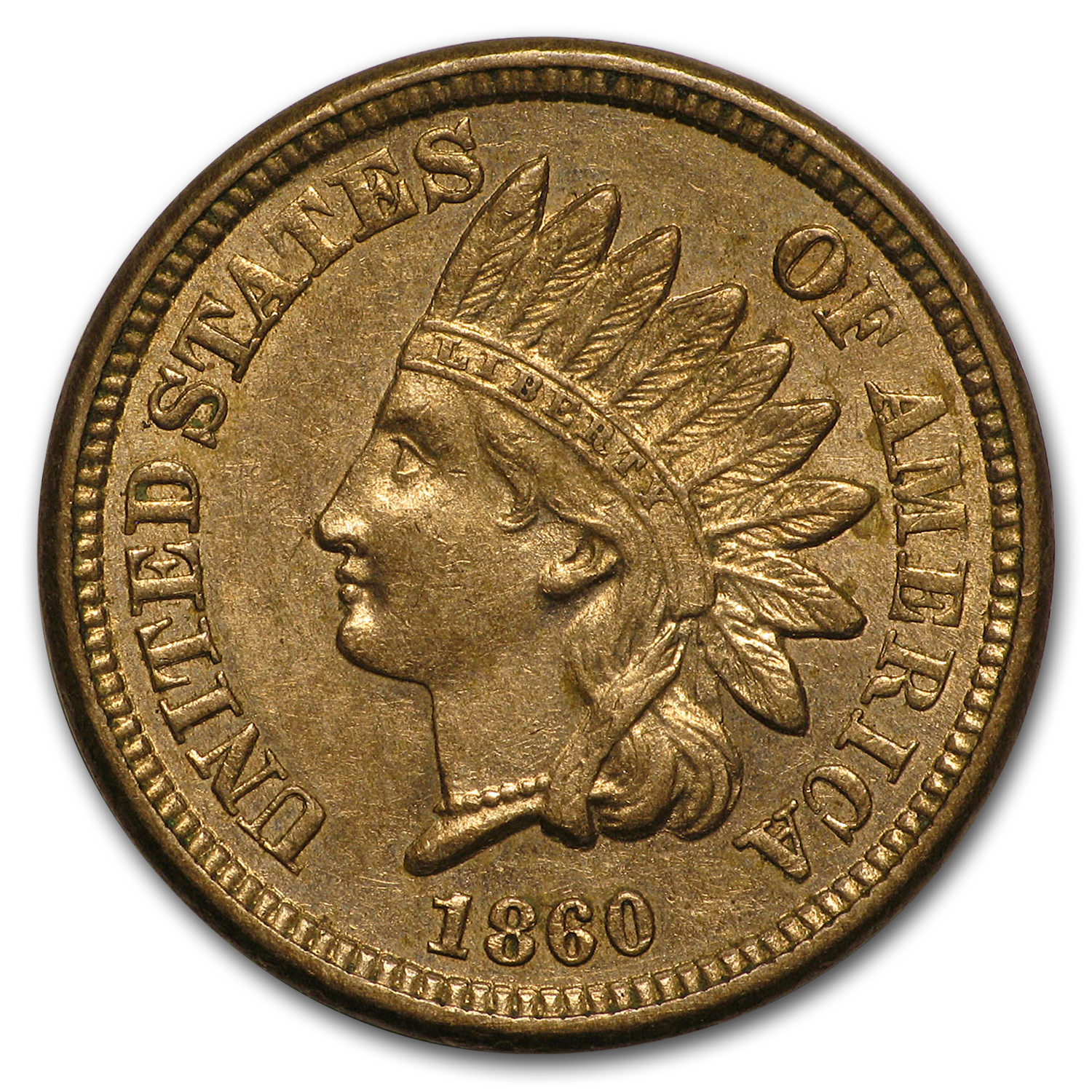 1860 Indian Head Cent Au Indian Head Cents 1859 1909