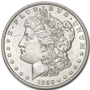 1890-CC Morgan Dollar BU Details (Cleaned)