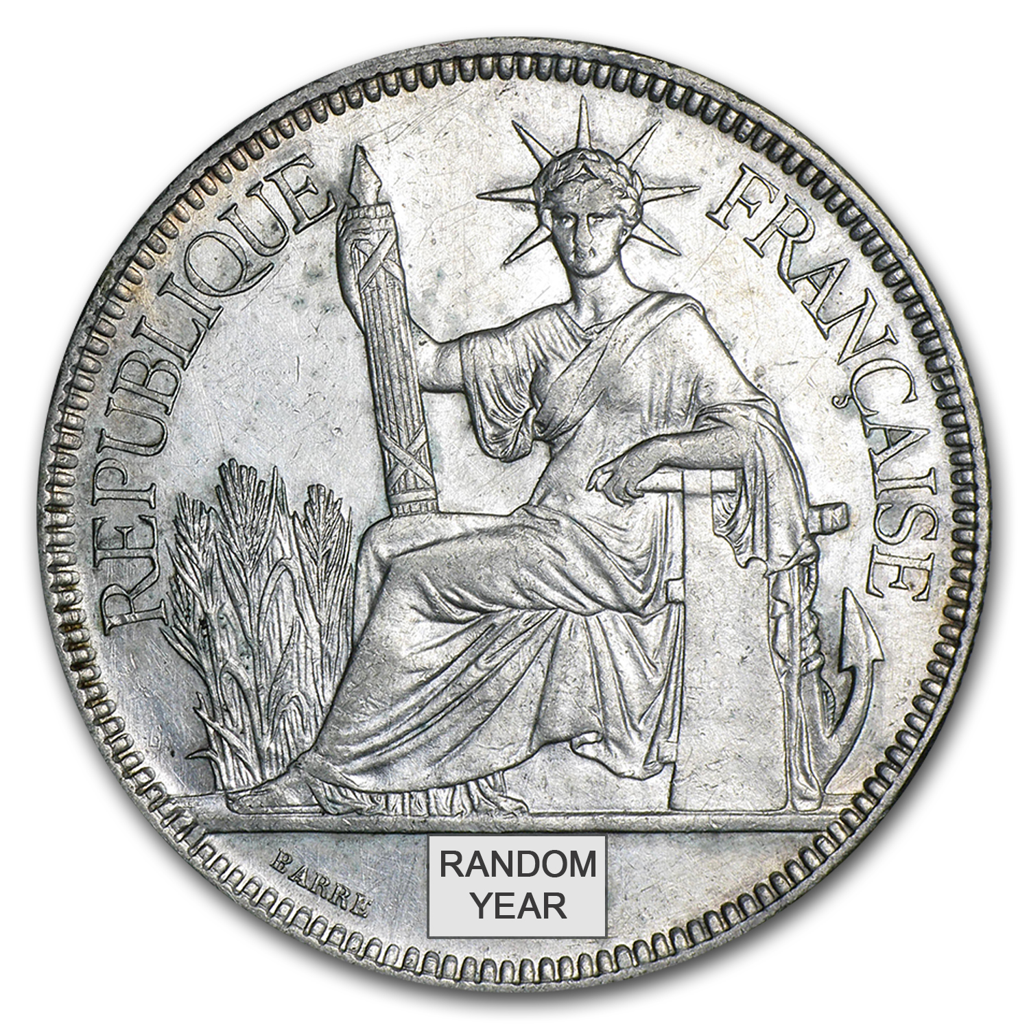 French Indo-China Silver Piastre XF/AU (Random Dates)