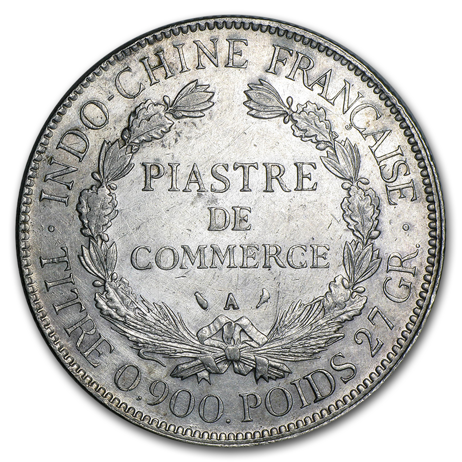 1897-1928 French Indo-China Silver Piastre Average Circ