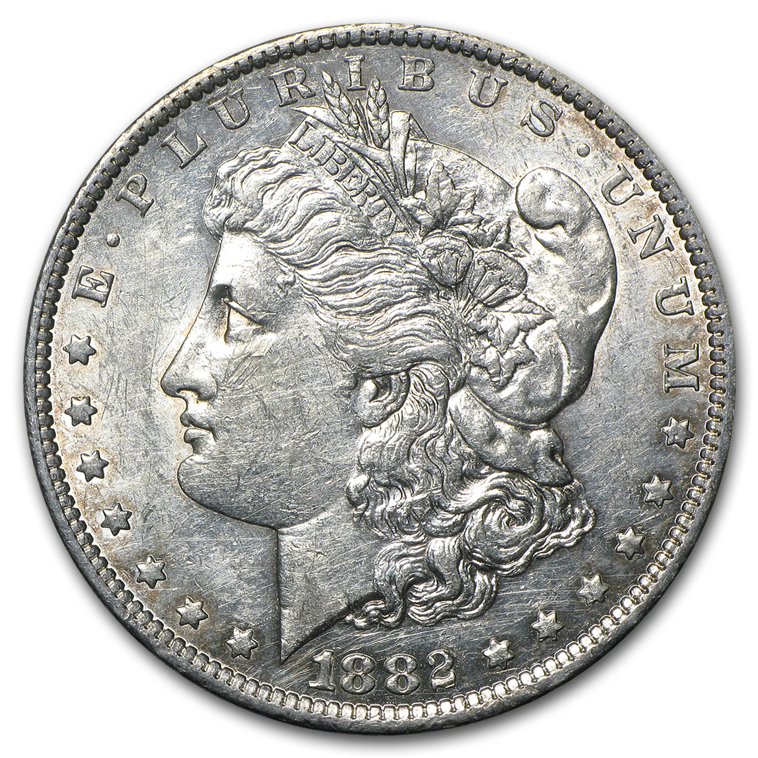 1882-O/S Morgan Dollar AU Details (Damaged)