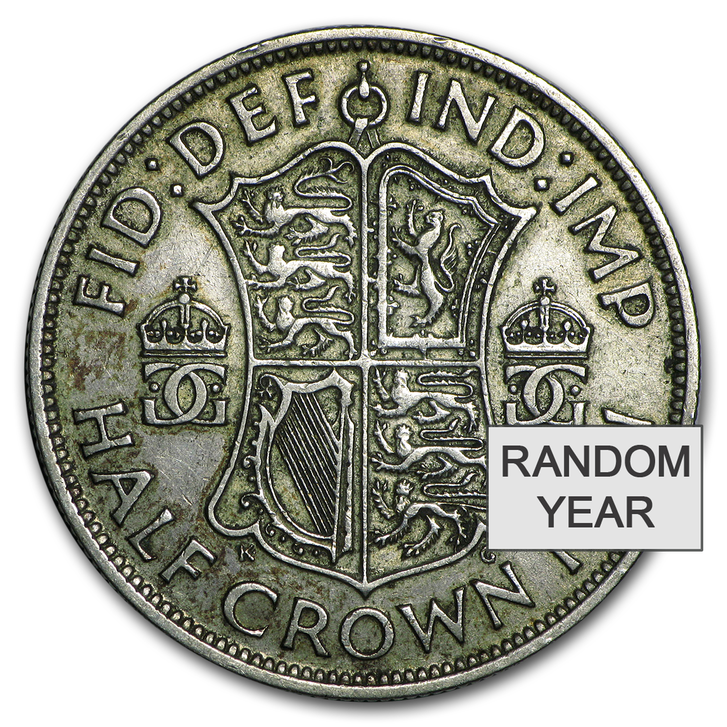 1937-1946 Great Britain Silver Half Crown George VI