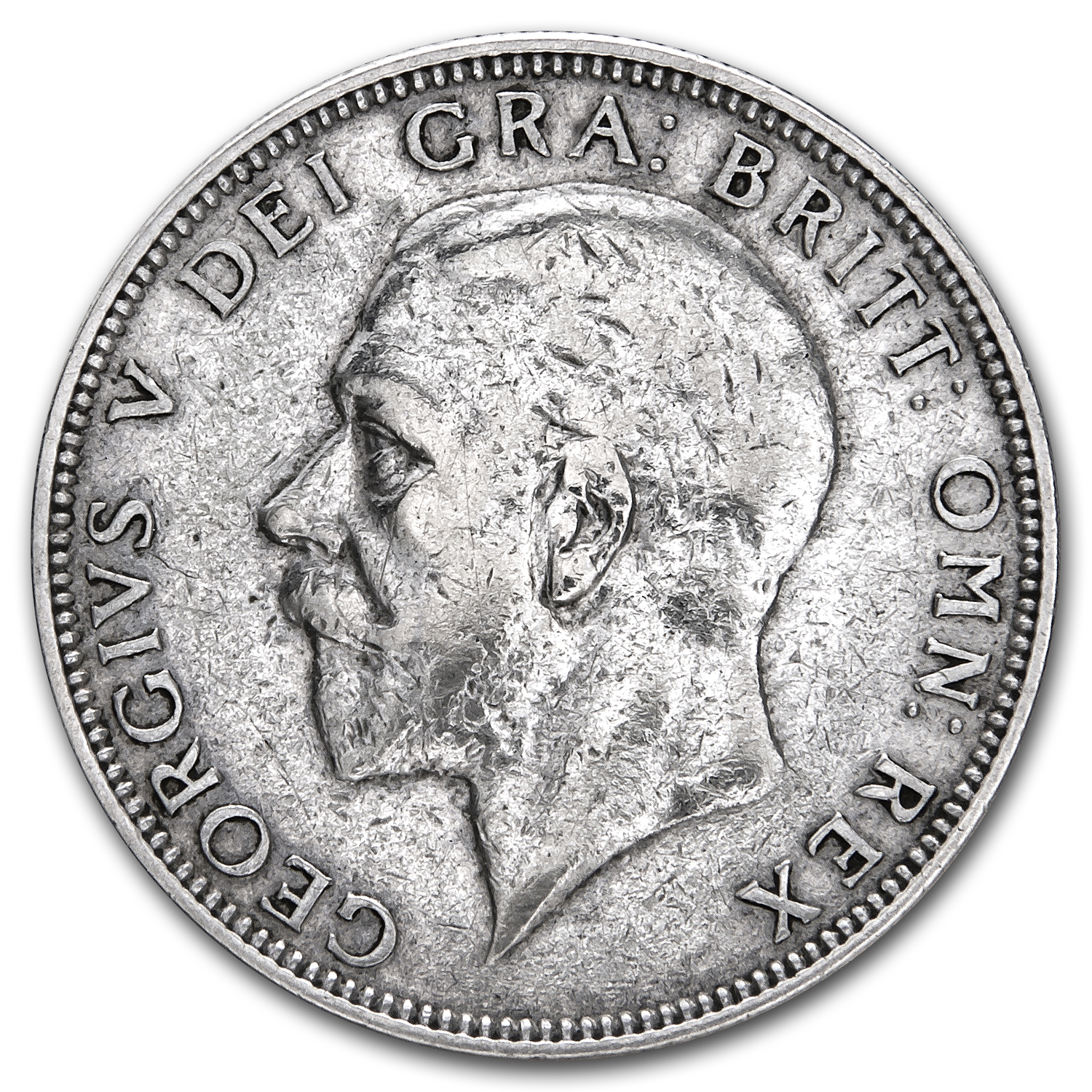 1920-1936 Great Britain Silver Florin George V Avg Circ