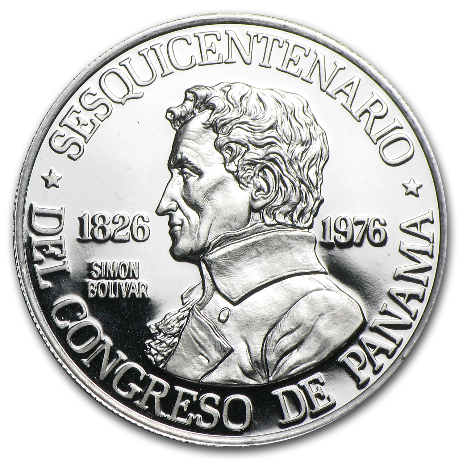 1976 Platinum Panama 150 Balboas Proof (APW .2987 oz)