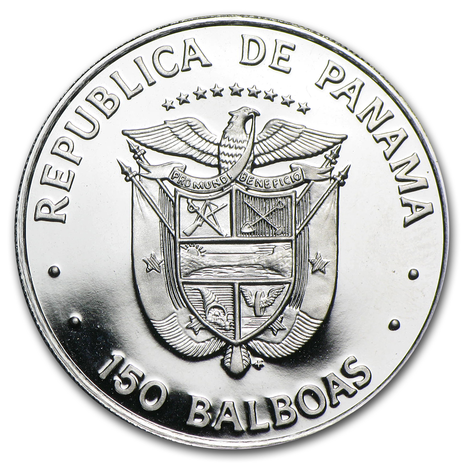 1976 Panama Platinum 150 Balboas Proof (APW .2987 oz)