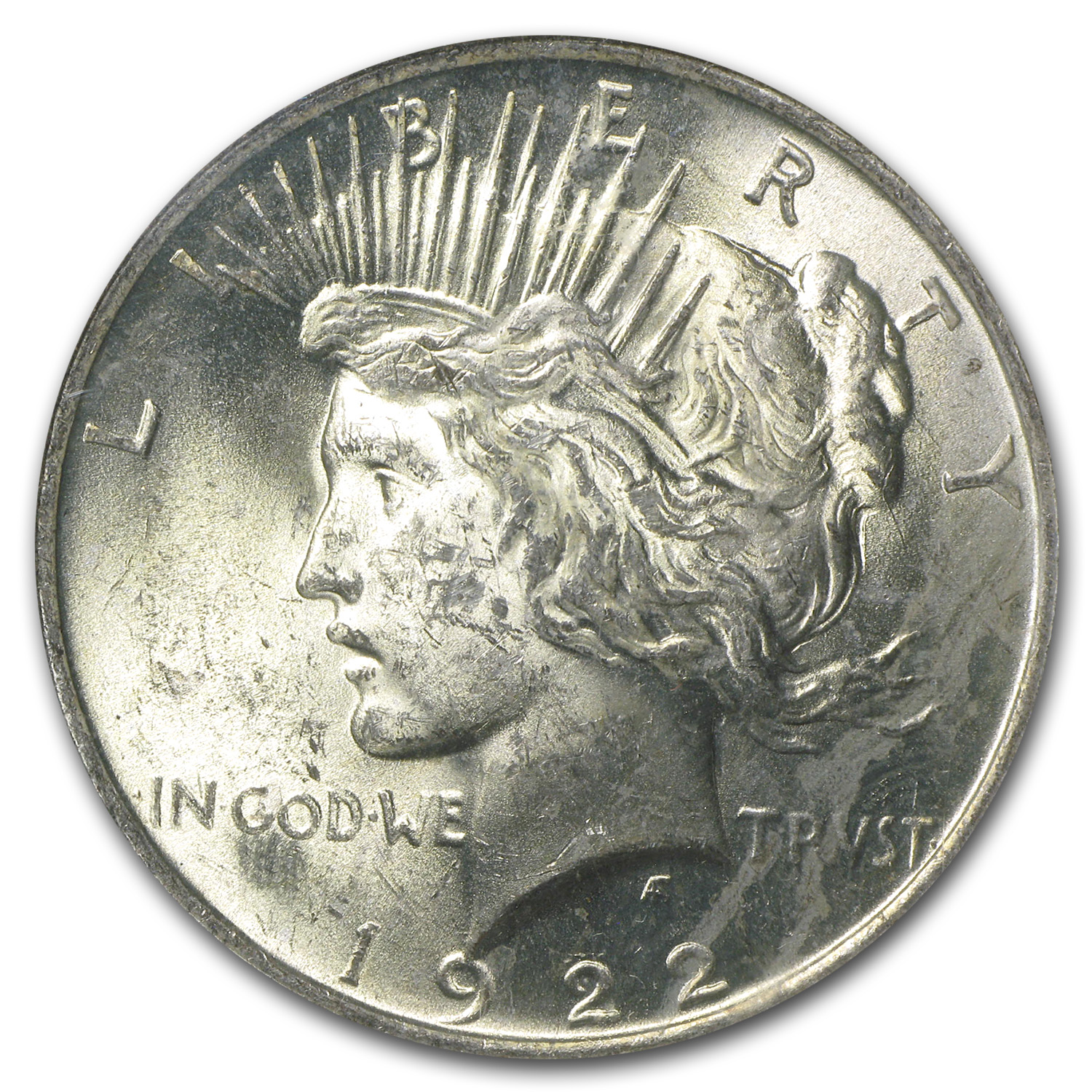 1922 Peace Dollar MS-63 NGC - Binion Collection