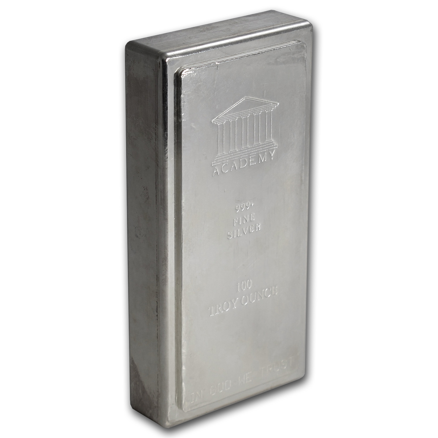 100 oz Silver Bar - Academy (Stackable)