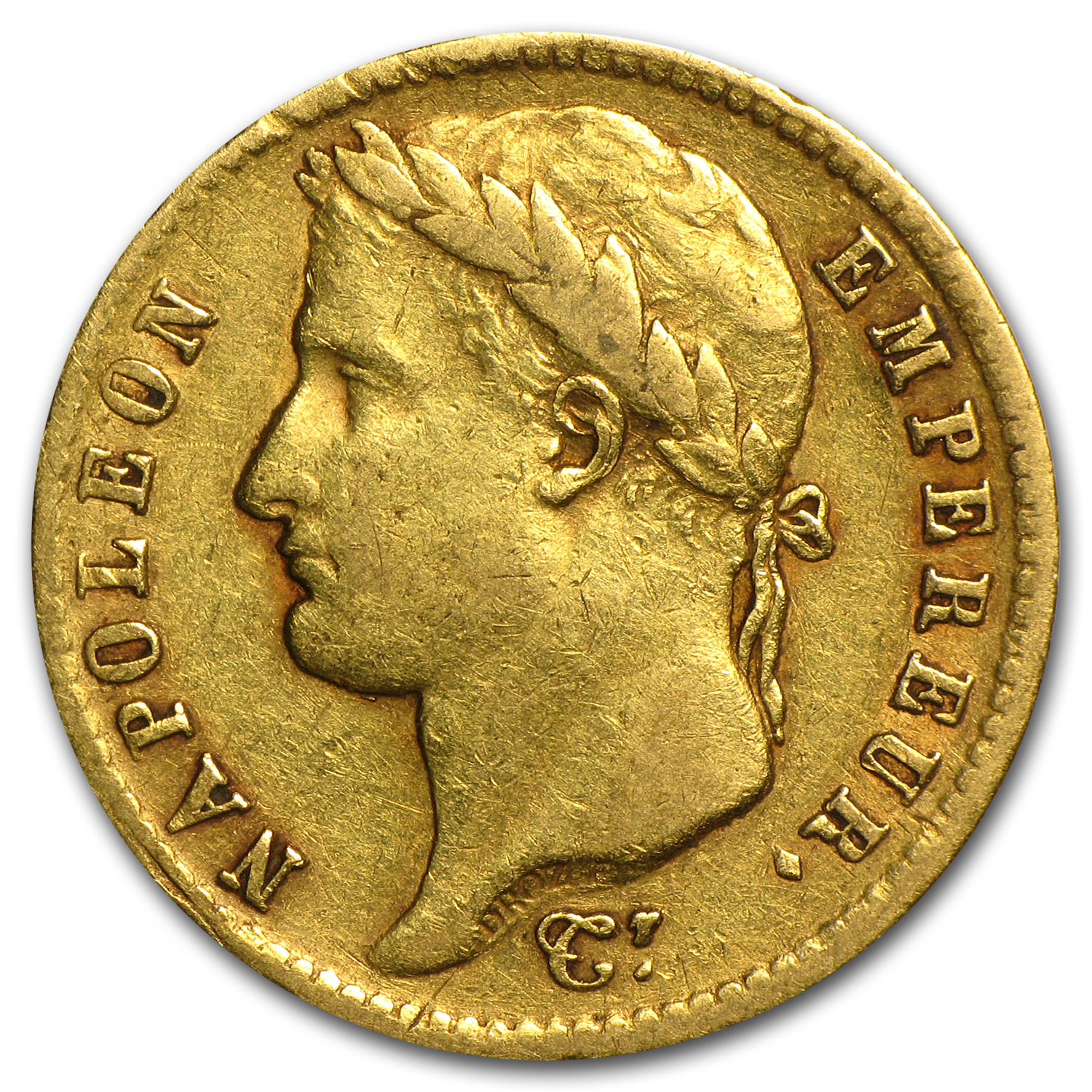1807-1813 France Gold 20 Francs Napoleon I Avg Circ