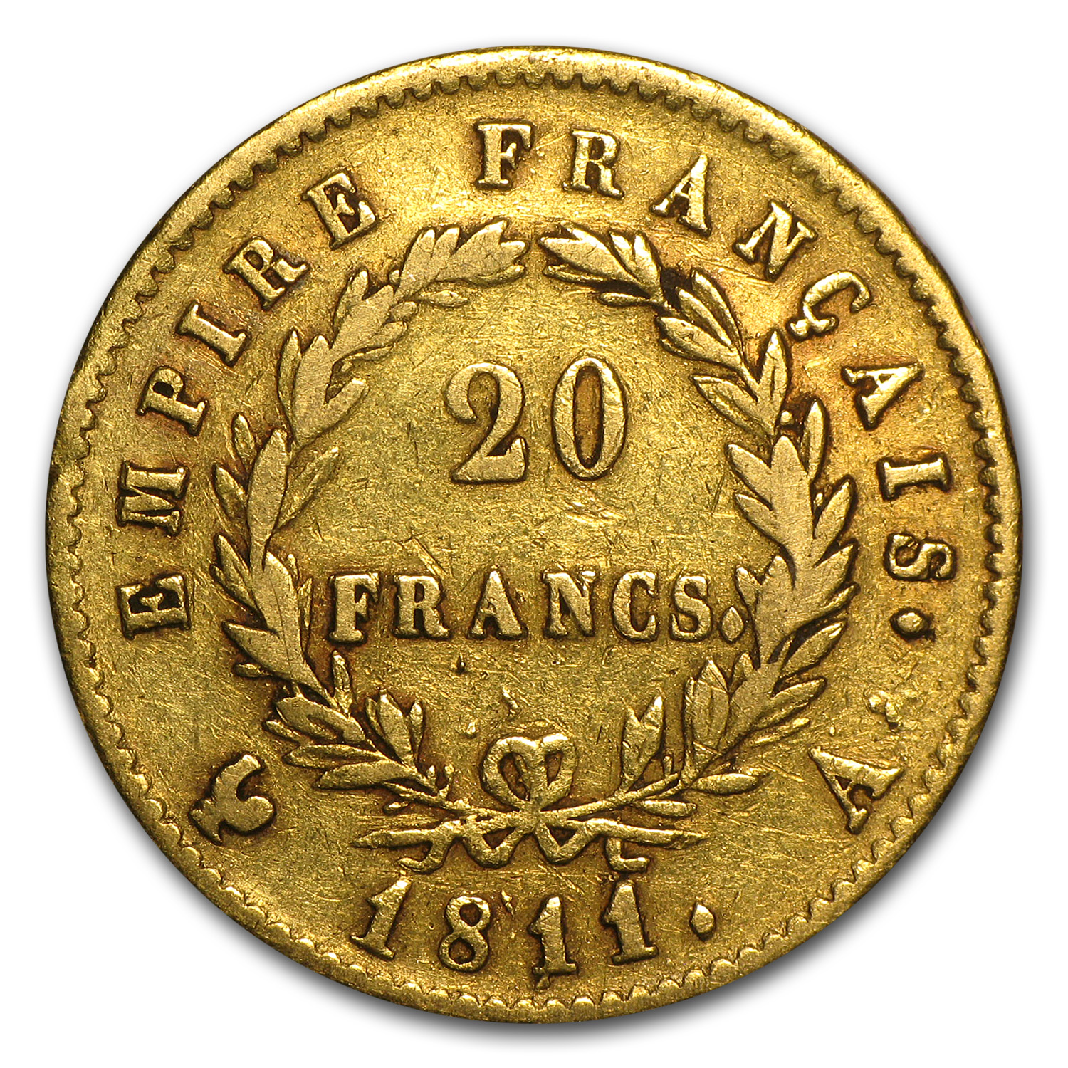 France Gold 20 Francs (Napoleon I) (Average Circulated)