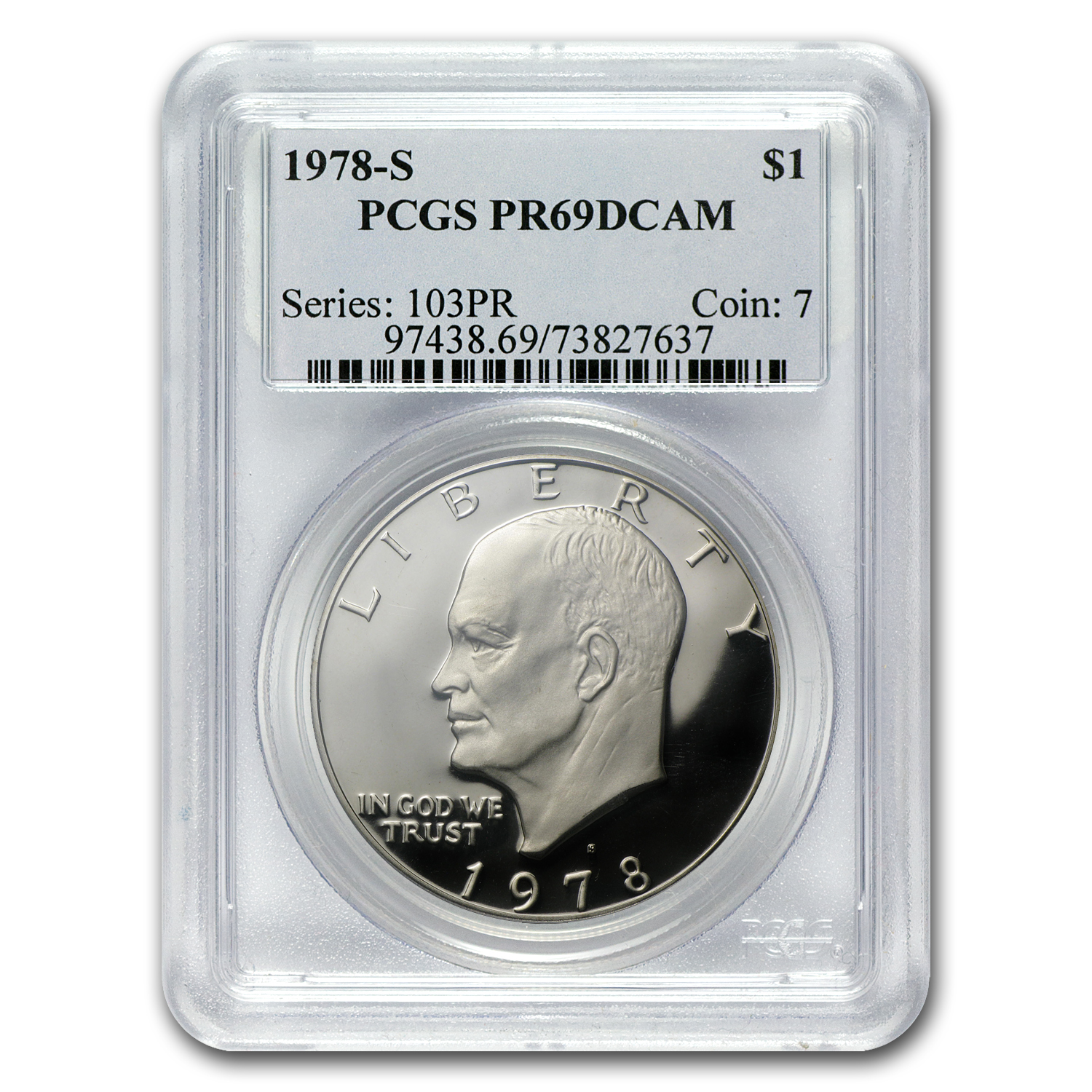 1971-S to 1978-S Eisenhower Dollars PR-69 DCAM - PCGS - Proof Set