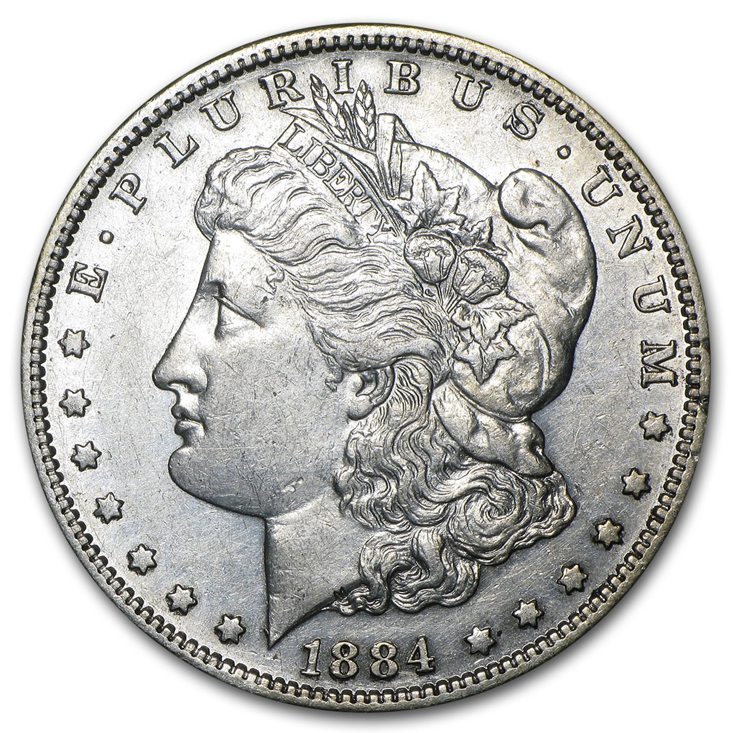 1884-S Morgan Dollar - Almost Uncirculated Details - Cleaned