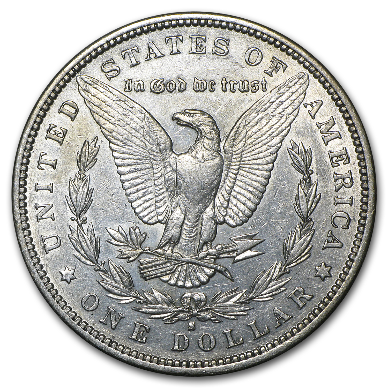 1884-S Morgan Dollar AU Details (Light Cleaning)