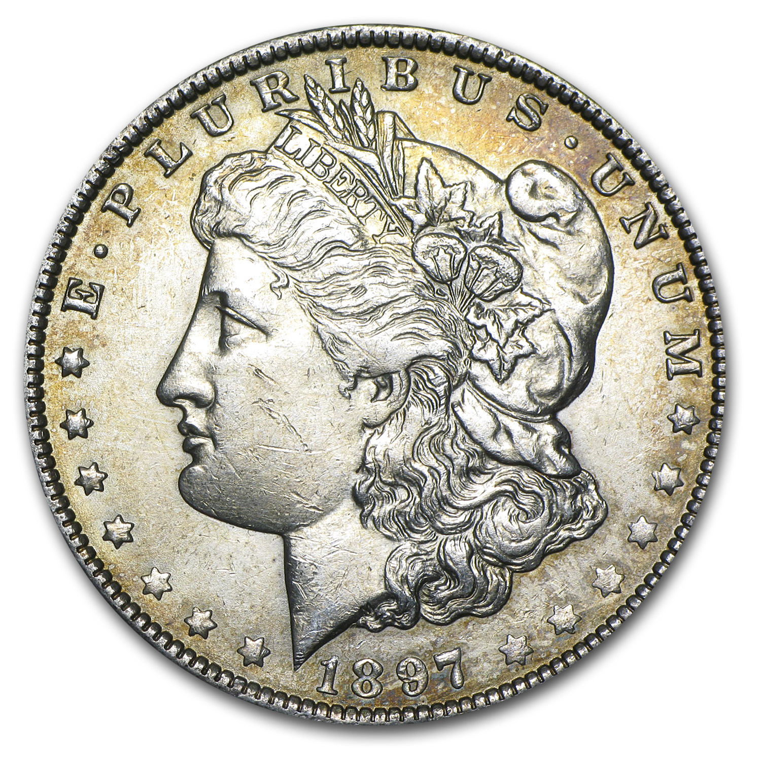 1897-O Morgan Dollar BU Details (Cleaned)
