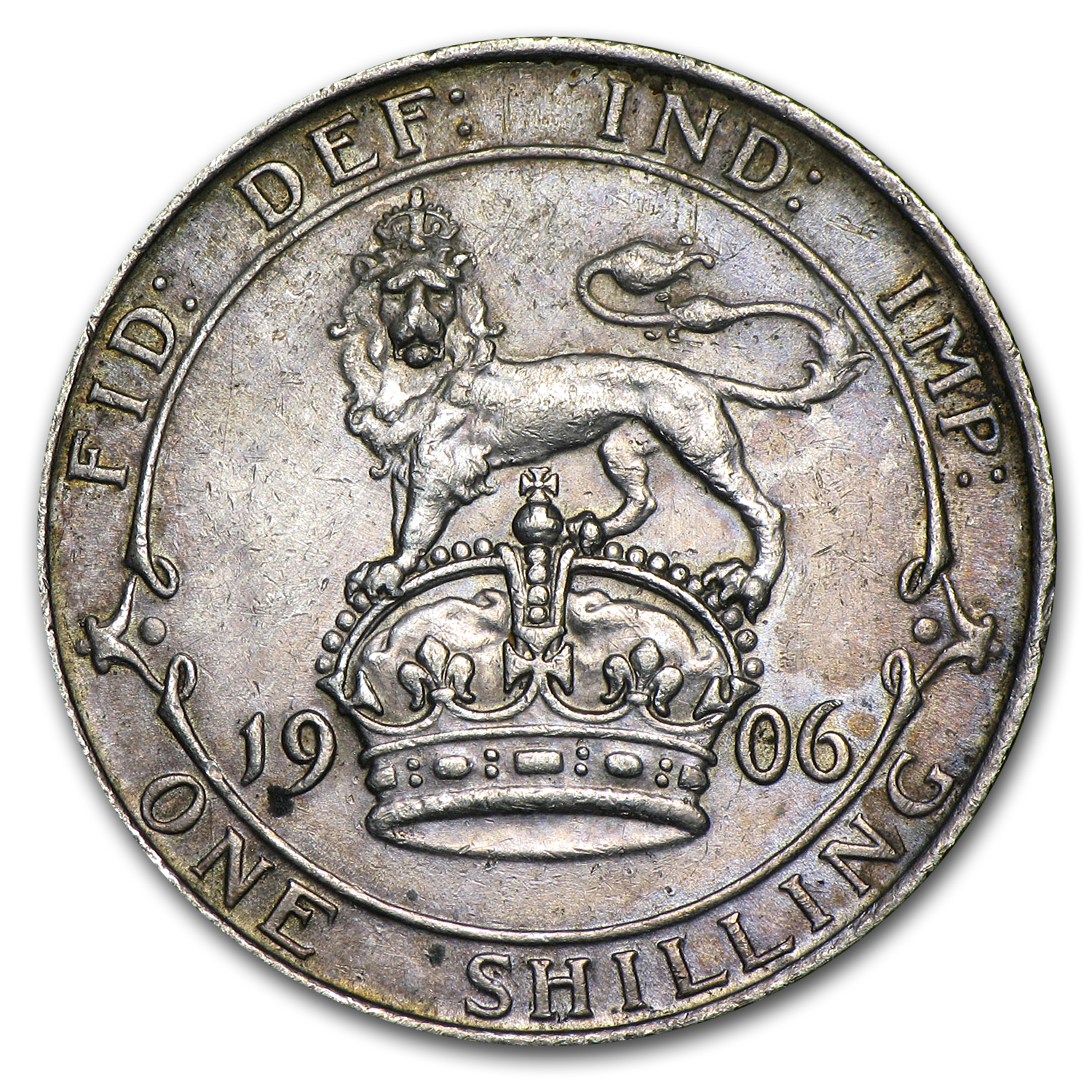 Great Britain 1906 Shilling Edward VII EF