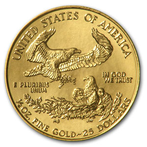 1990 1/2 oz Gold American Eagle (Cleaned)