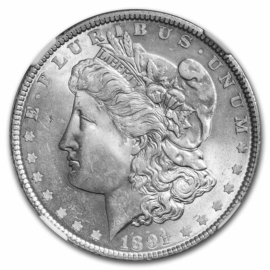 1891 Morgan Dollar MS-64 NGC