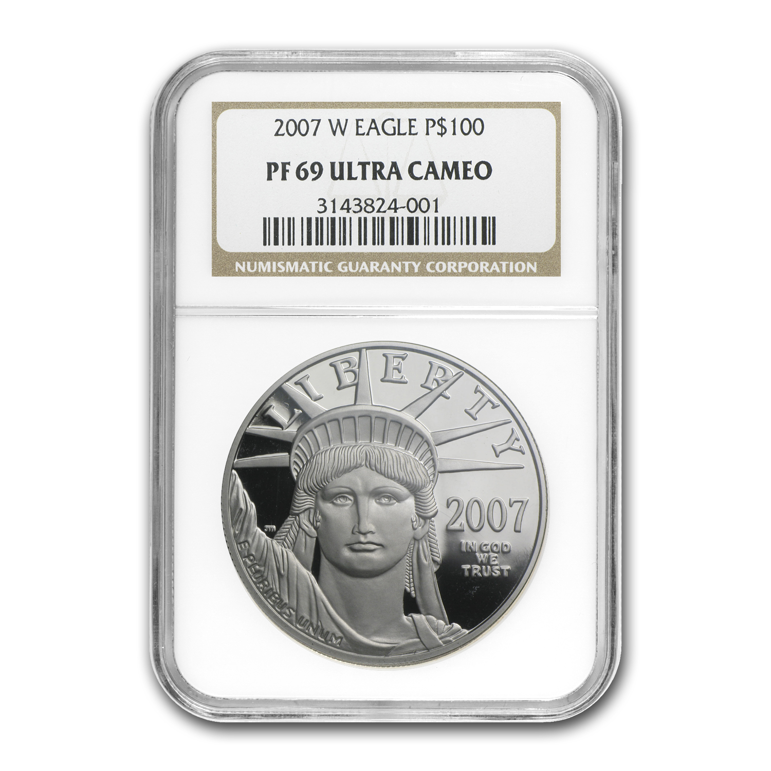 2007-W 1 oz Proof Platinum American Eagle PF-69 NGC