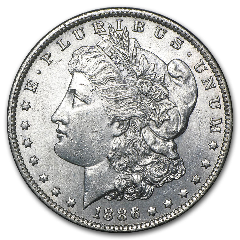 1886 O Morgan Dollar Bu Morgan Dollars 1878 1904