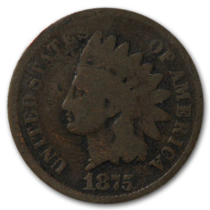 1875 Indian Head Cent Good