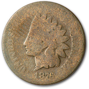 1876 Indian Head Cent AG
