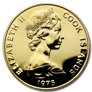 1975 Cook Islands Gold $100 BU