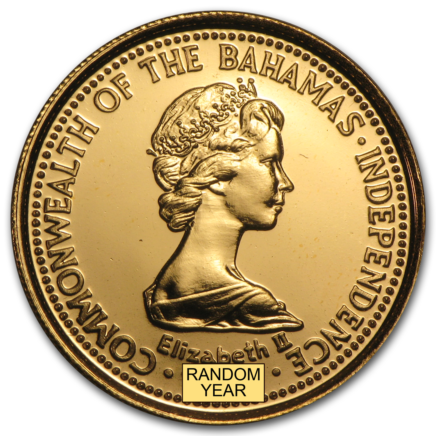 1974-77 Bahamas Gold 100 Dollars BU/Proof (Random)