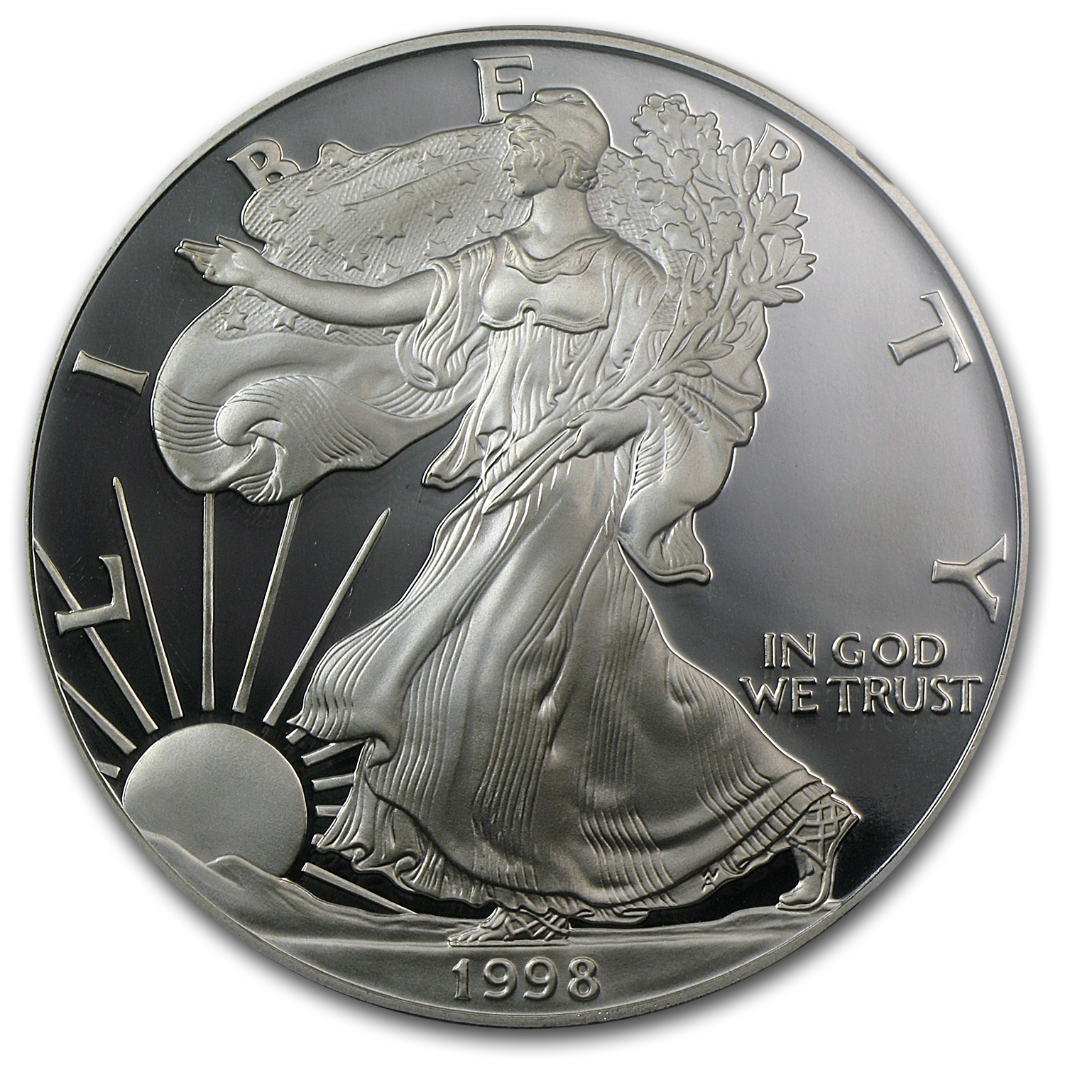 1998-P Proof Silver American Eagle PF-70 NGC