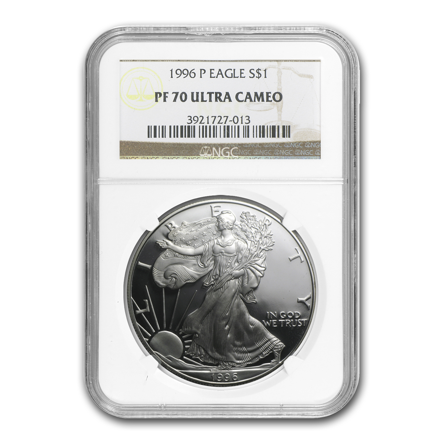 1996-P Proof Silver American Eagle PF-70 NGC
