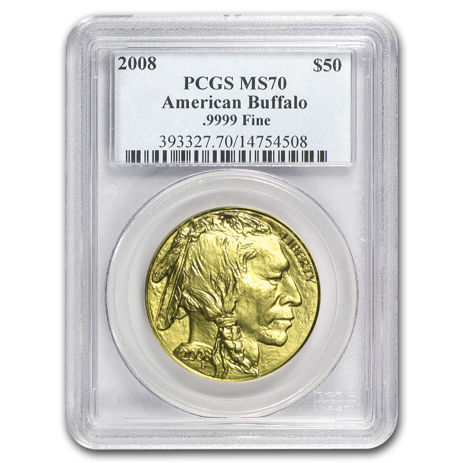 2008 1 oz Gold Buffalo MS-70 PCGS