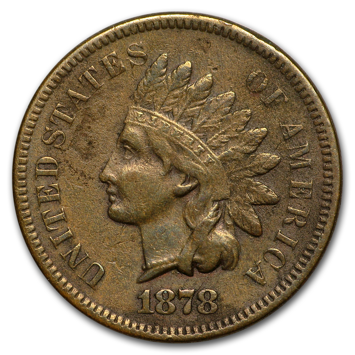 1878 Indian Head Cent VF
