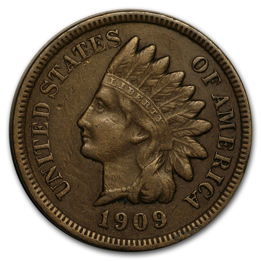 1909 S Indian Head Cent Vf Indian Head Cents 1859