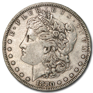 1880 Morgan Dollar XF (VAM-6, Spikes Overdate, Top-100)