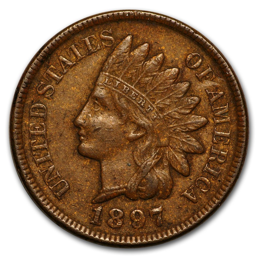 1897 Indian Head Cent Xf Indian Head Cents 1859 1909