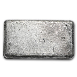 5 oz Silver Bar - Engelhard (Poured/Bull Logo)