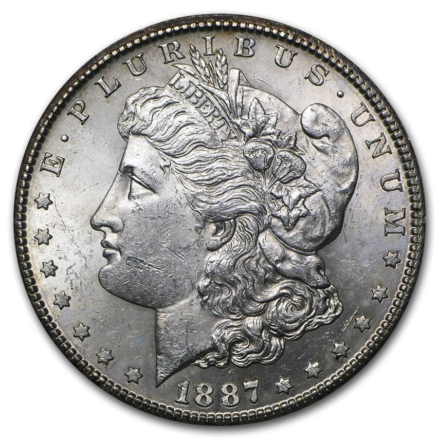 1887 s morgan dollar bu morgan dollars 1878 1904 for The morgan