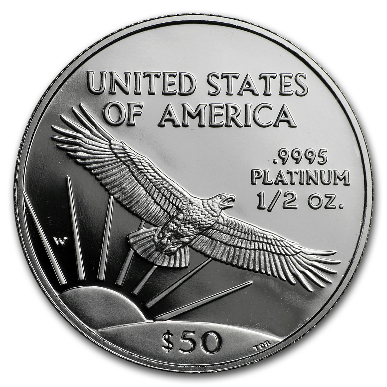 1997-W 1/2 oz Proof Platinum American Eagle (Capsule Only)