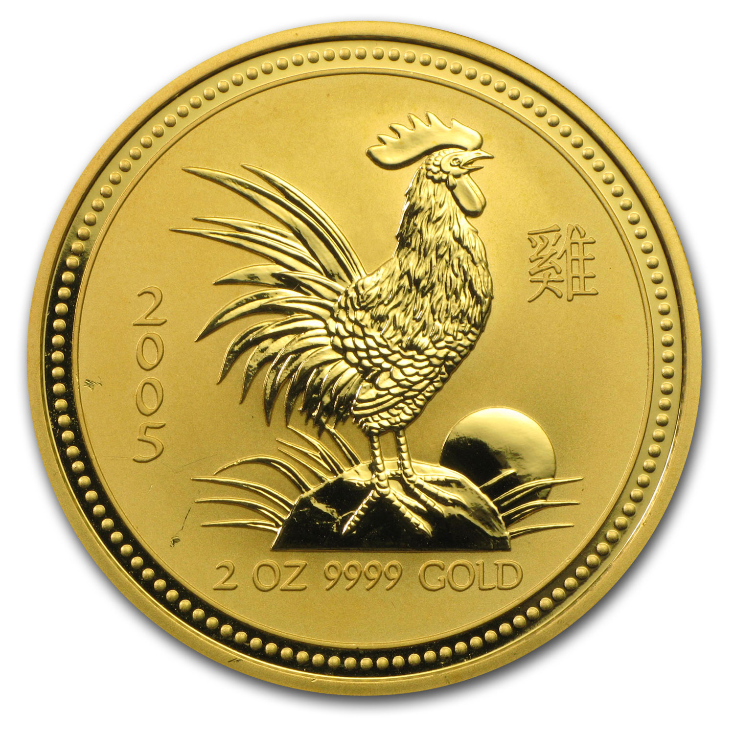 2005 2 oz Gold Lunar Year of the Rooster BU (Series I)