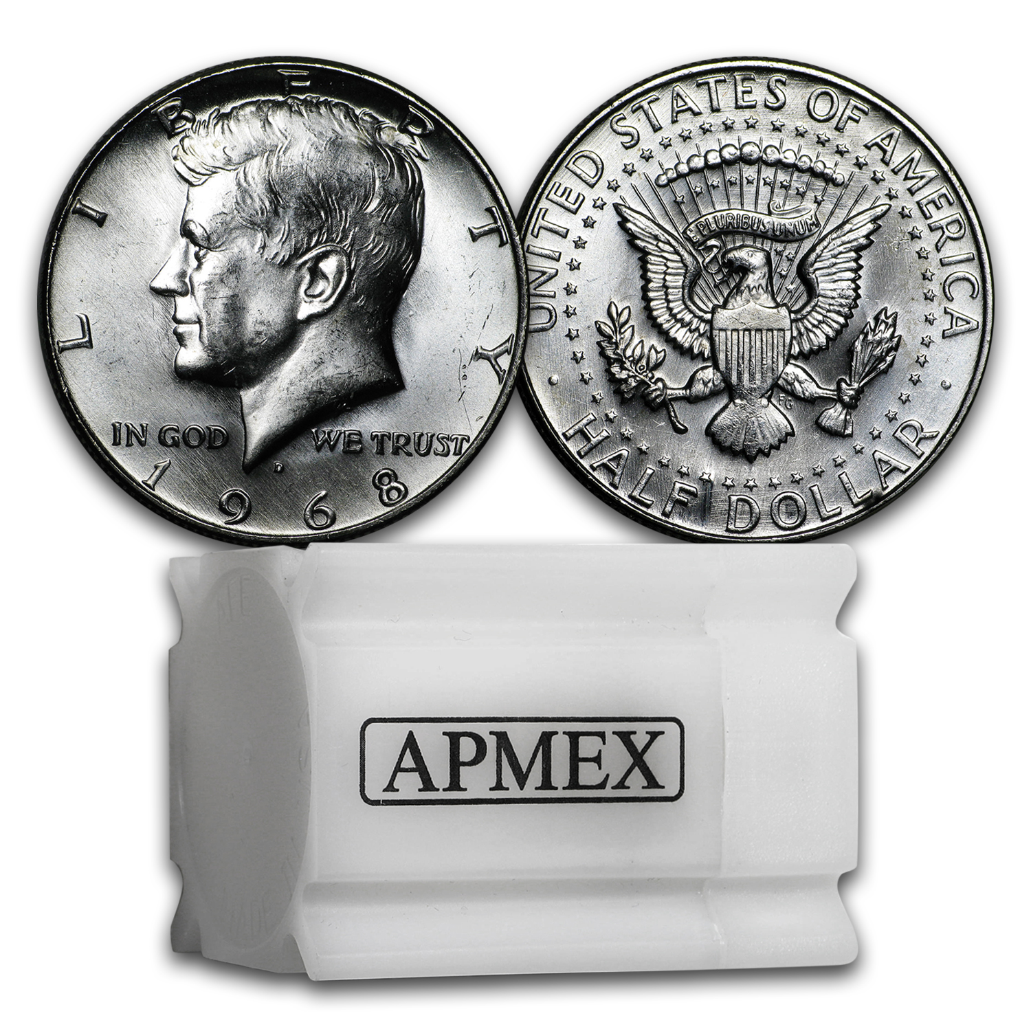 1965-1970 40% Silver Kennedy Half Dollar 20-Coin Roll BU/Proof