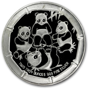 2 oz Silver Rounds - Panda Bear Family