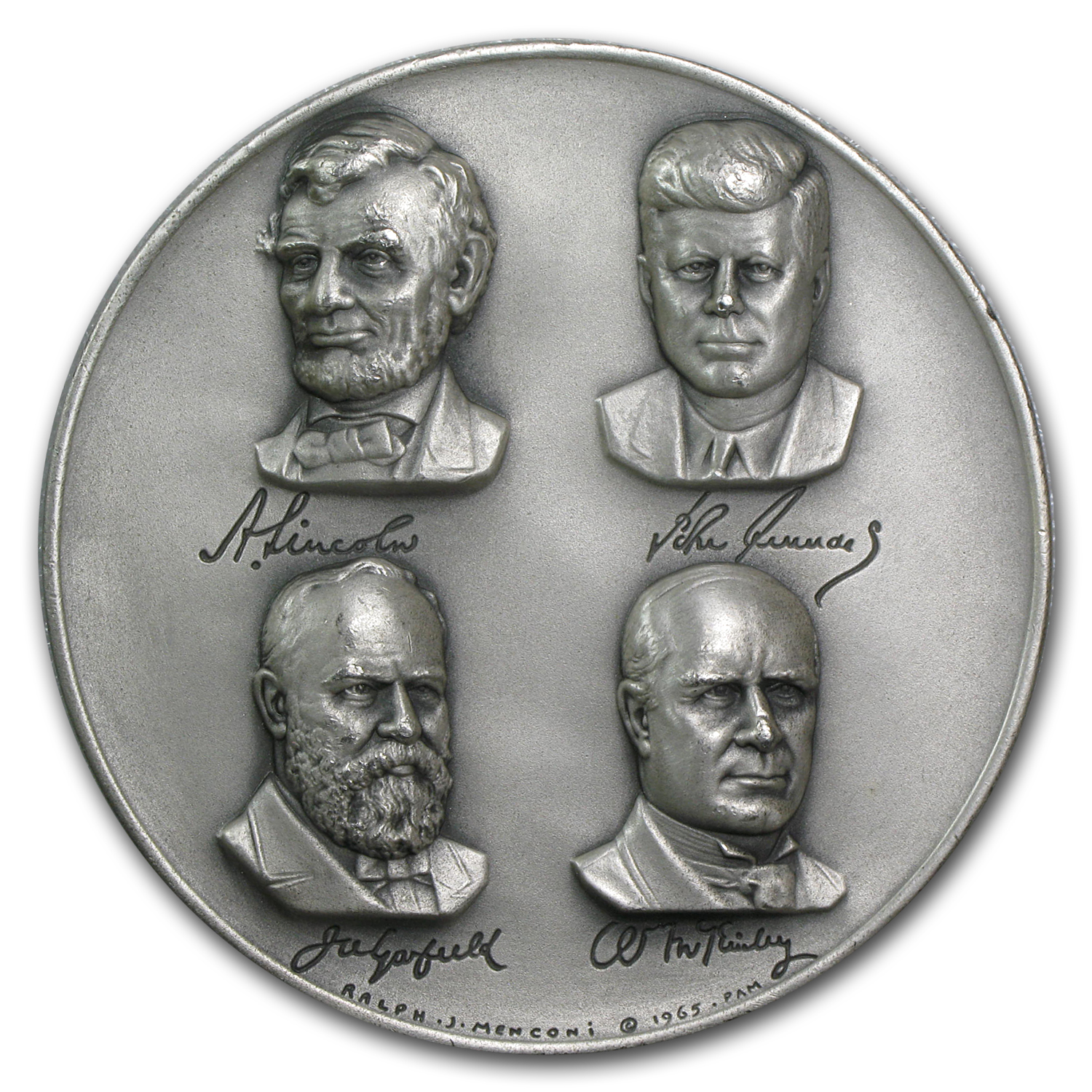 5.08 oz Silver Rounds - Presidents Who Gave Their Lives