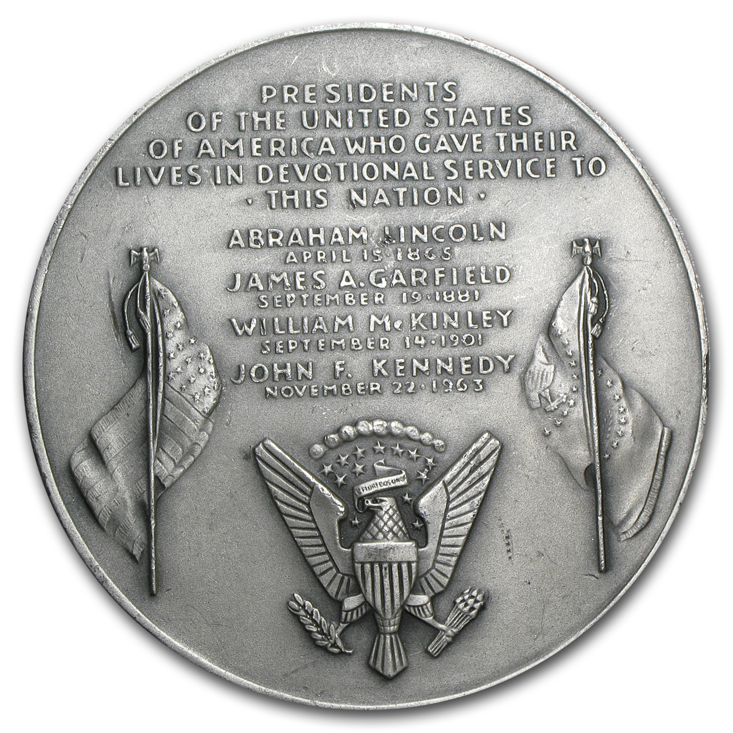 5.08 oz Silver Round - Presidents Who Gave Their Lives