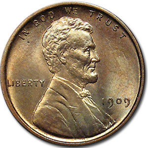 1909 VDB Lincoln Cent MS-64 (Red/Brown)