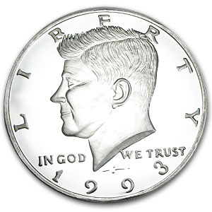 8 oz Silver Rounds - Kennedy Half Dollar