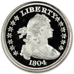 1 oz Silver Rounds - Bust Dollar (Replica)