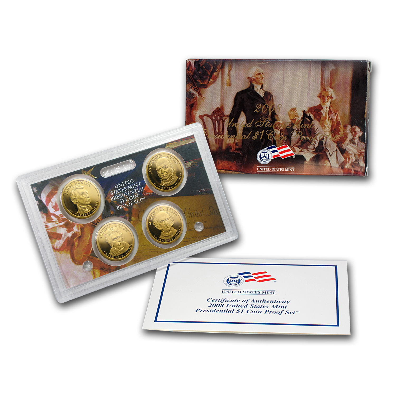2008 Presidential Dollar Proof Set