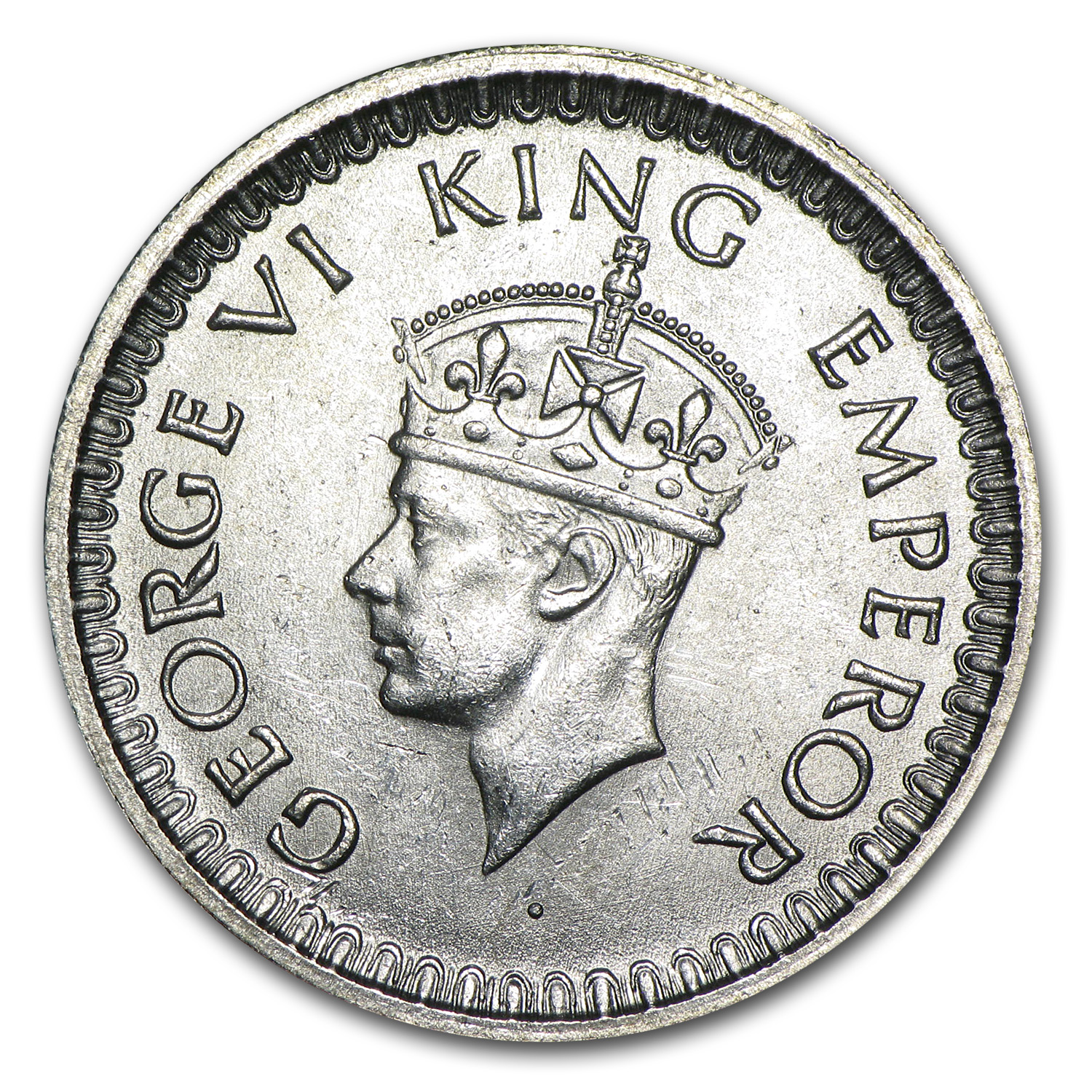 India 1/2 Silver Rupee George VI BU (Random Dates)
