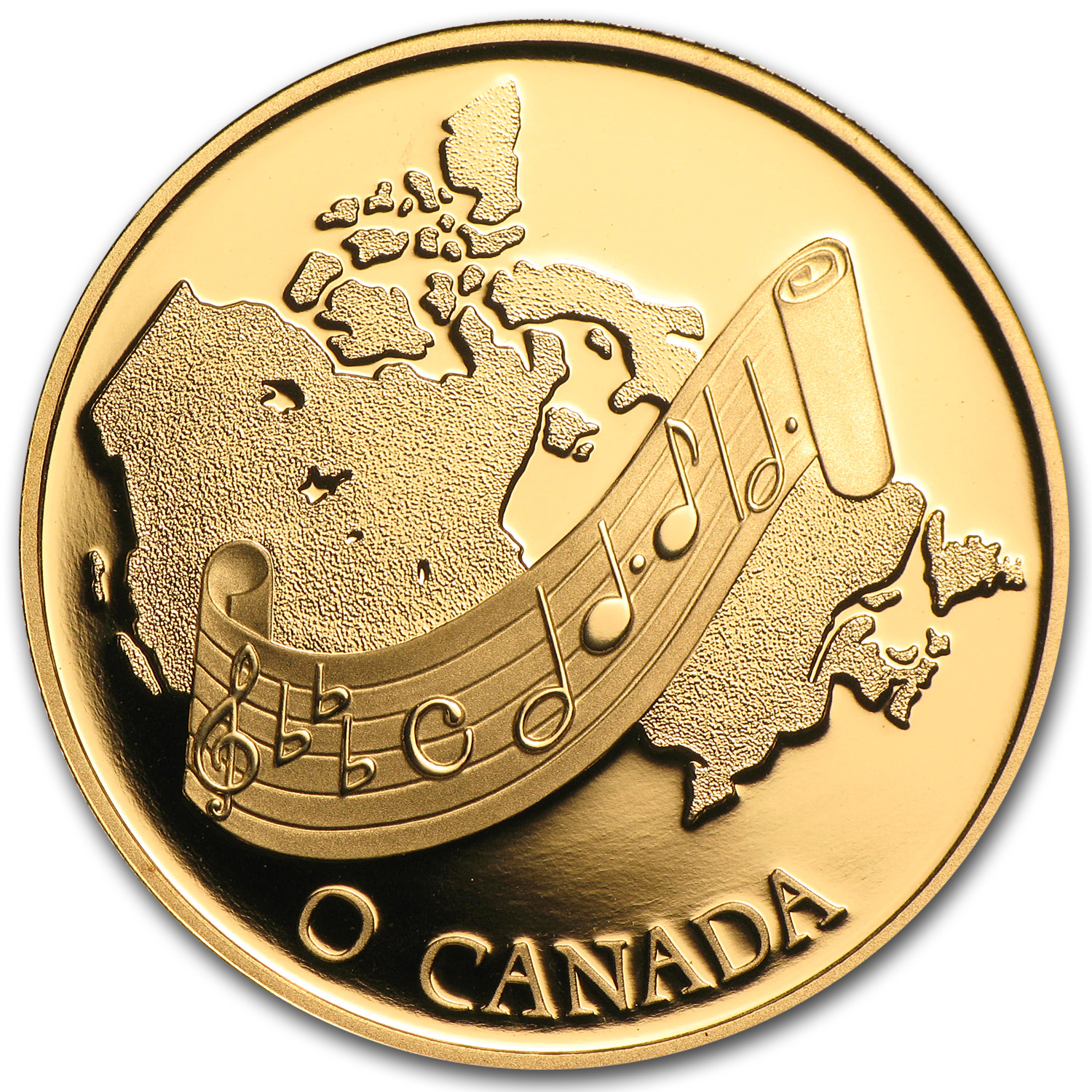 1981 Canada 1/2 oz Proof Gold $100 National Anthem: O Canada!